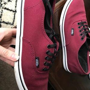 Vans women's burgundy 7.5 shoes